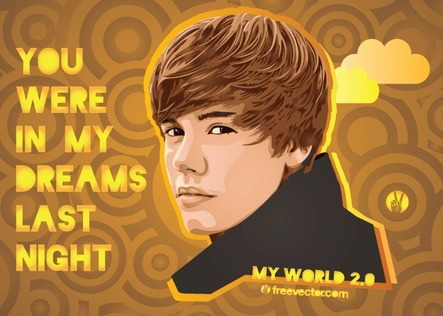 Justin Bieber Vector free