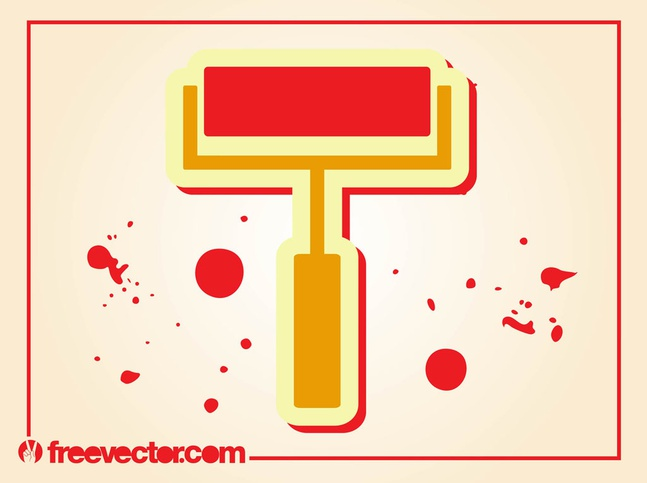 Paint Roller vector free
