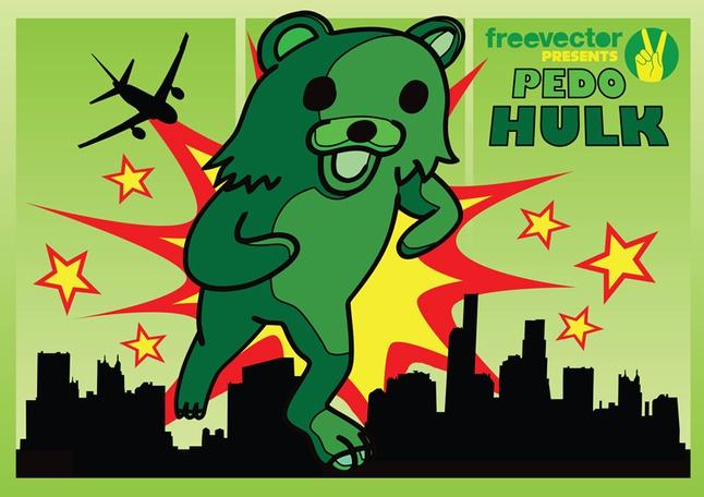 Pedo Hulk vector free