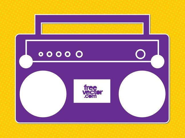 Radio Icon vector free