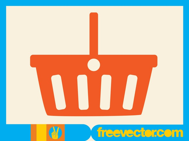 Shopping Basket vector free