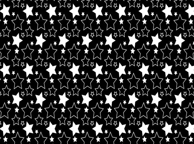 Simple Stars Pattern vector free