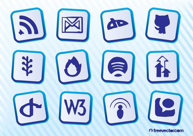 Social Website Vectors free