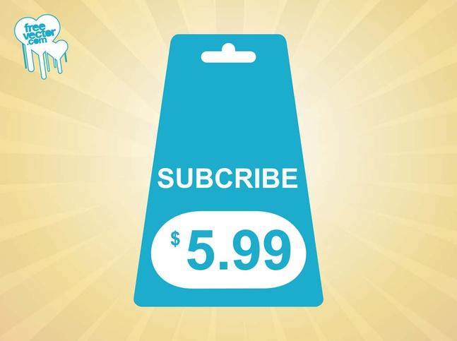 Subscribe Tag vector free