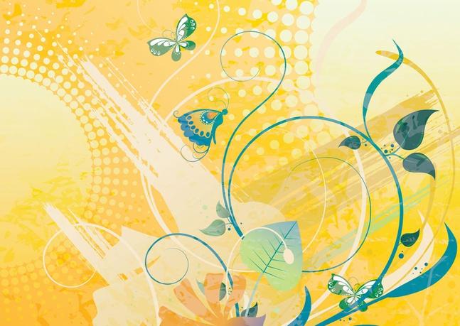 Sunny Nature Vector Art free