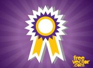 Medal Sticker vector free