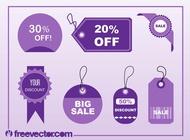 Shopping Tags Vectors free