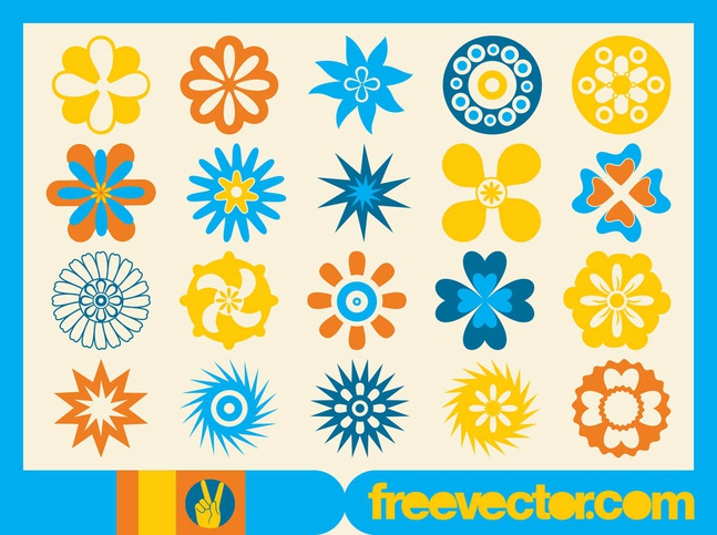 Vector Flower Icons free