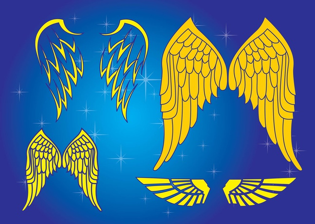 Vector Wings Graphics free