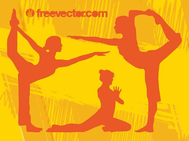 Yoga Girls Vector free