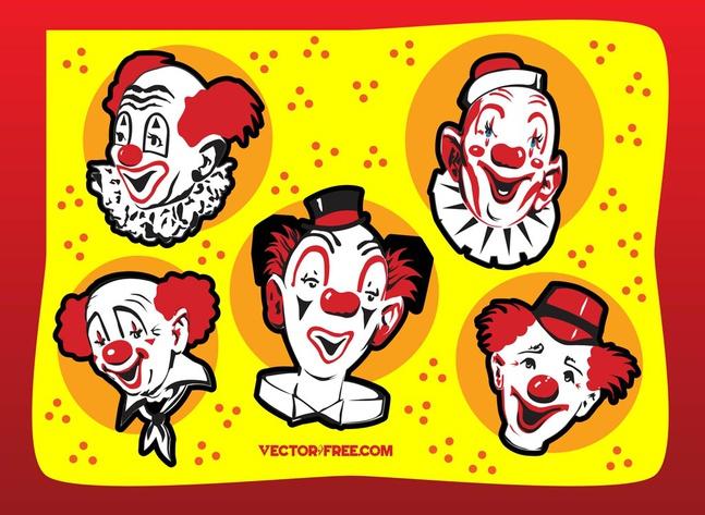 Clown Vectors free