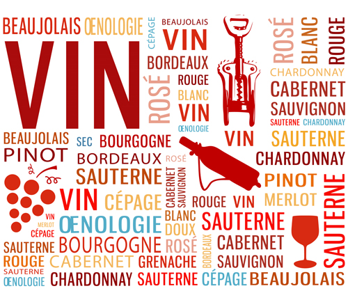 Creative wine and text background vector  01 free