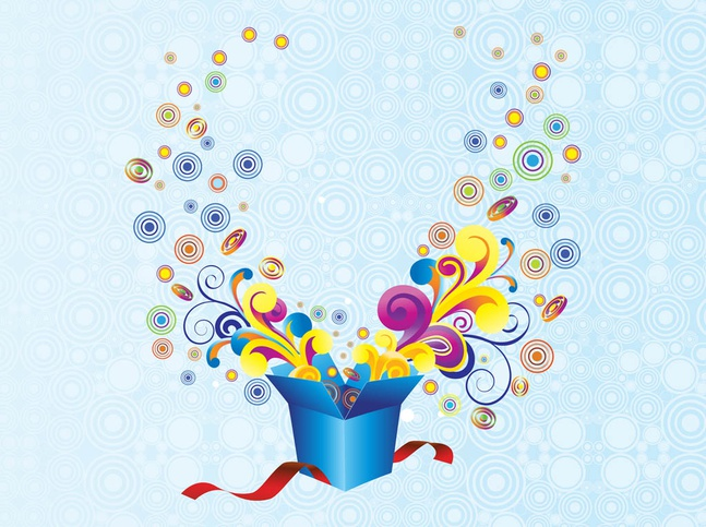 Gift Background vector free