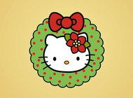 Hello Kitty Christmas vector free