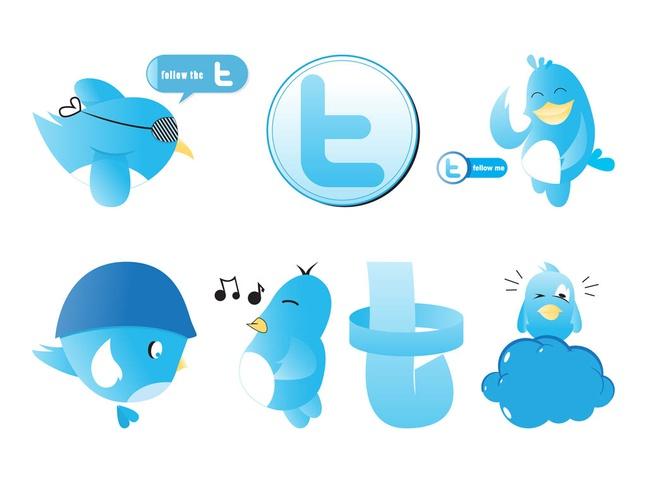Twitter Graphics Set vector free