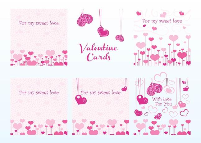 Valentine Vector Cards free