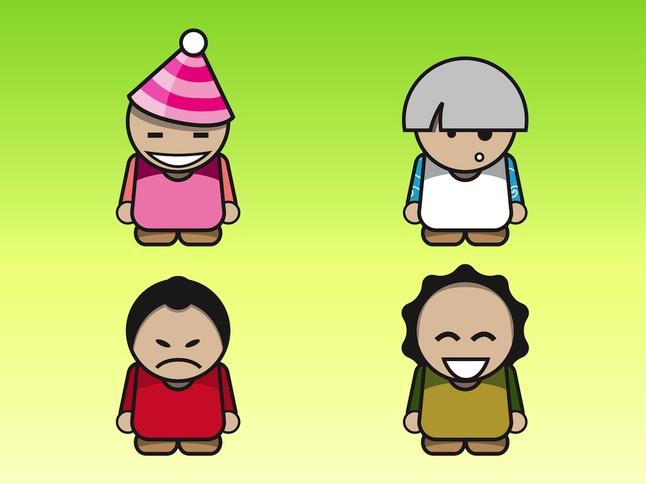 Cartoon Characters vector free