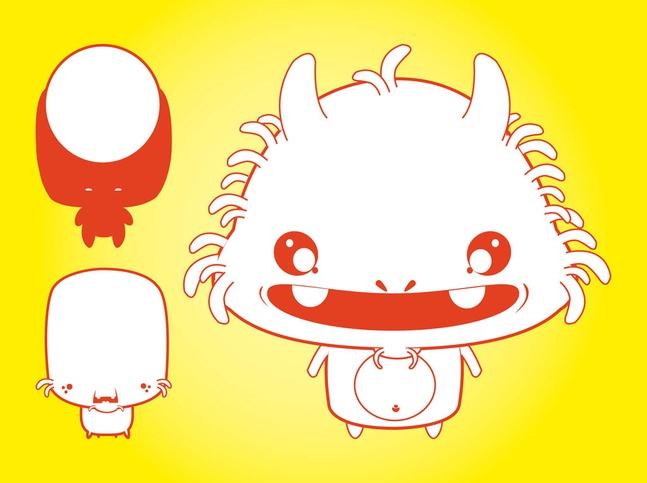 Cute Vector Monster Illustrations free
