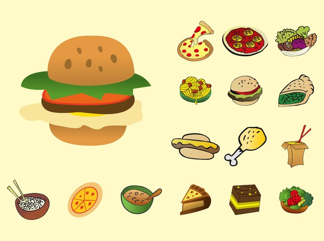 Delicious Food vector free