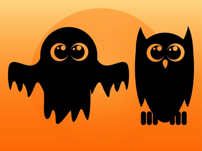 Ghost And Owl vector free