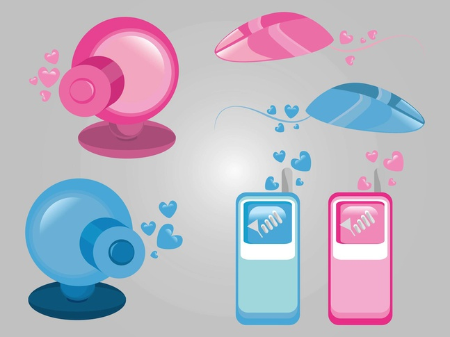 Technology Love vector free
