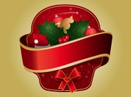 Christmas Sticker vector free
