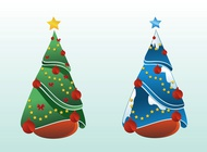 Christmas Trees Vector Design free