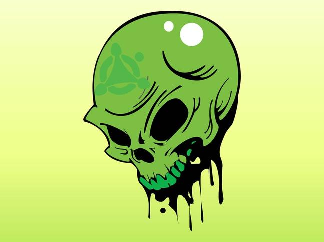 Toxic Skull vector free