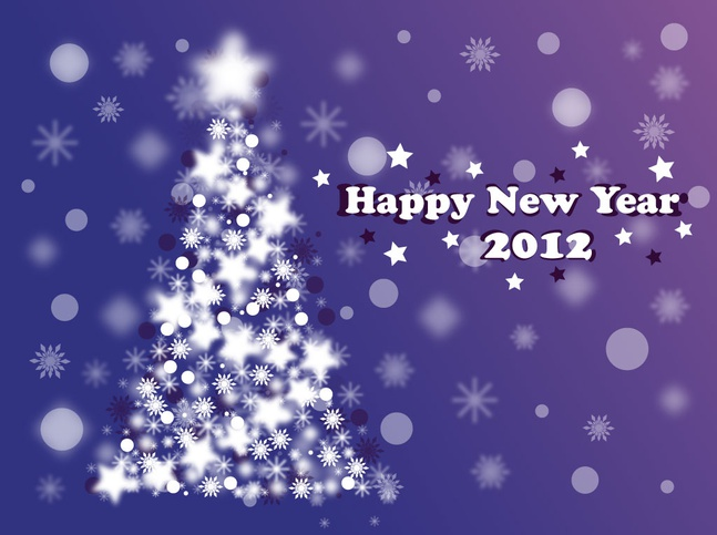 Christmas New Year Design vector free