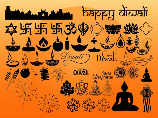 Diwali Graphics vector free