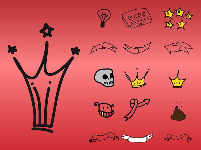Doodle Icons vector free
