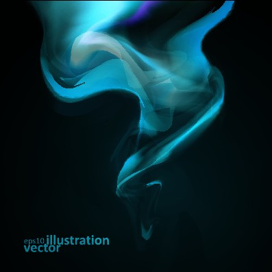 Dynamic light waves background vector  03 free