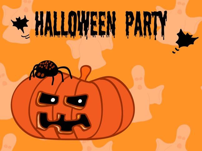 Halloween Party Flyer vector free