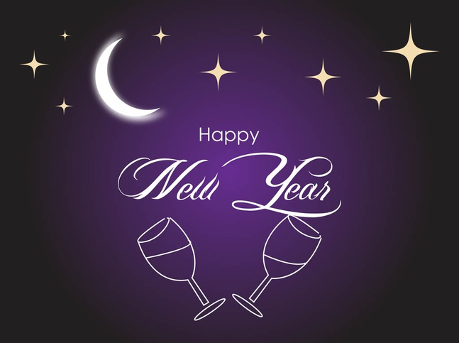 New Year Vector free