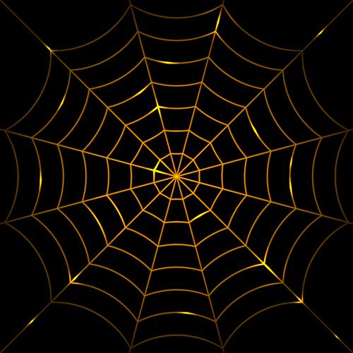 Vector spider web design background graphics 02 free