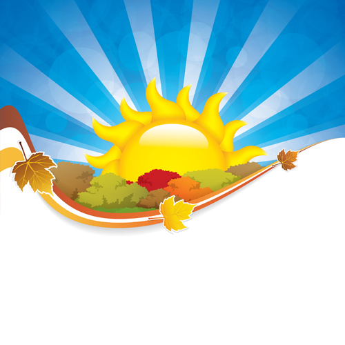 Cartoon summer sun vector background 04 free