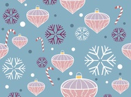 Christmas Decoration Pattern vector free