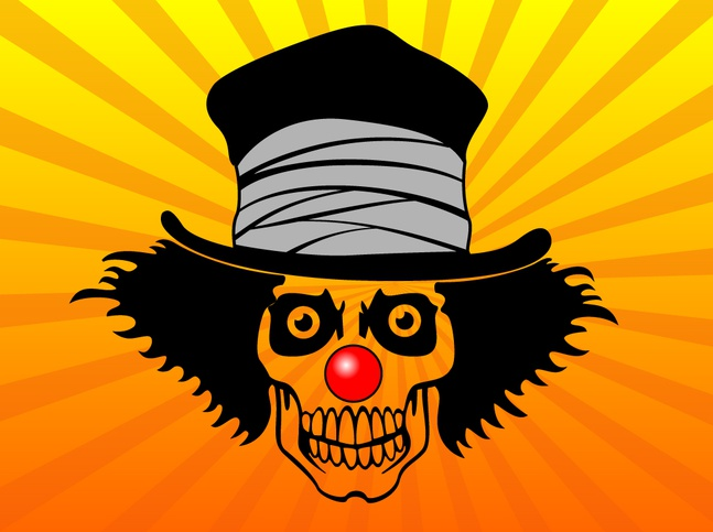 Top Hat Skull Vector free