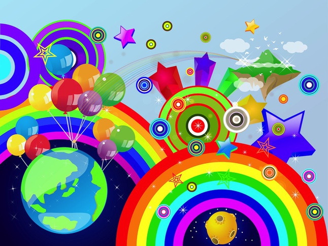 Colorful World vector free
