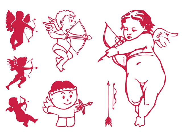 Cupid Characters vector free