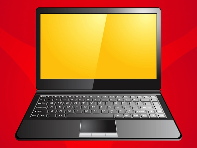 Laptop Graphics vector free