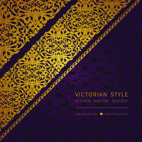Victorian ornate floral pattern background vector 02 free