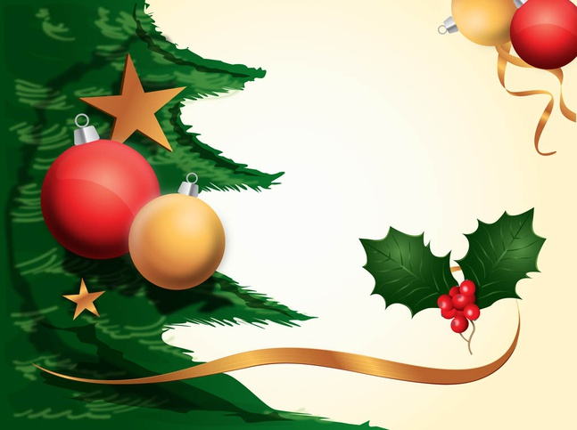 Christmas Decorations Background vector free