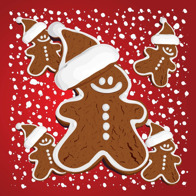 Christmas Gingerbread vector free