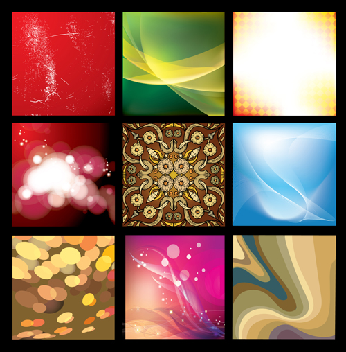 Colorful abstract elements art background 01 free