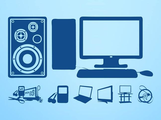 Hi-Tech Devices Set vector free