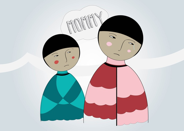 Mother And Child Vector free