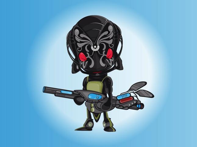 Alien Soldier vector free
