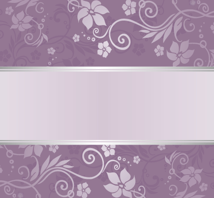 Purple floral ornament pattern backgrounds vector 06 free