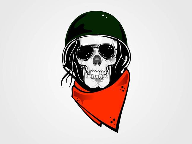 Vector Skull Character free